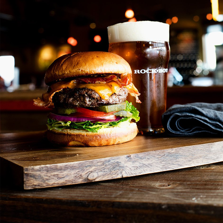 Beer and a Burger (Square)